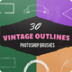 30 Vintage Ink Outlines Photoshop Brushes