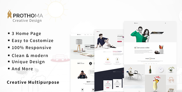 Prothoma - Creative Multi-purpose HTML Template