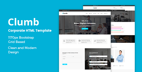 Download Clumb – Corporate HTML Template