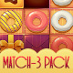 Donut Match 3 GUI Pack