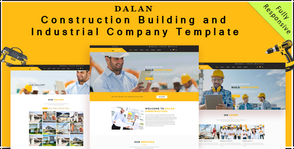 Dalan – Building , Constructing and Industrial Corporation HTML5 Template (Company)