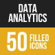 Data Analytics Filled Low Poly B/G Icons