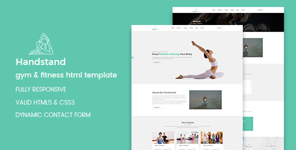 Download Handstand - Gym & Fitness HTML Template