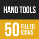 Hand Tools Filled Low Poly B/G Icons