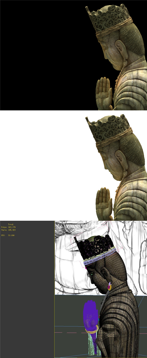 Game Model - Buddha Kabayashi Buddha statue of the forest - 3DOcean Item for Sale