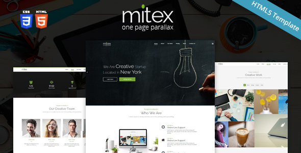 Download Mitex - One Page Parallax