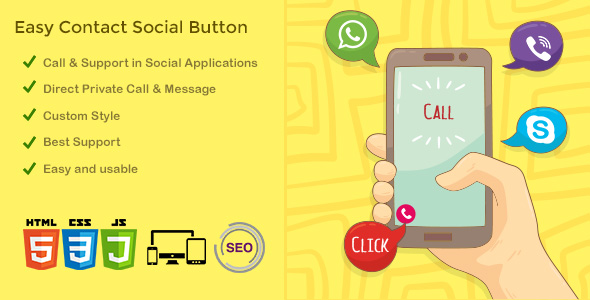 ECSB – Easy Contact Social Button
