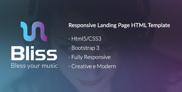 Image of Bliss - Bootstrap Landing Page HTML Template