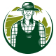 Professional Farmer Logo Template