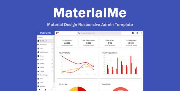 MaterialMe - Material Design Admin Template