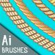 8 Marine Rope Pattern Brushes Set