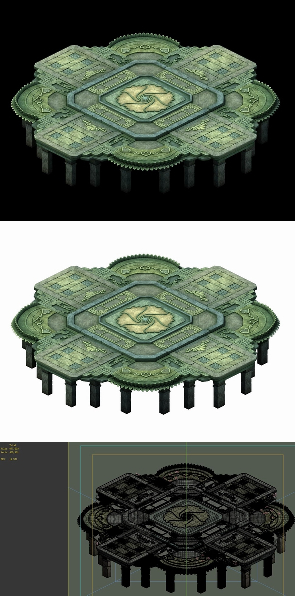 Game Model - Kashayana Buddha Forest Water Shueit 04 - 3DOcean Item for Sale