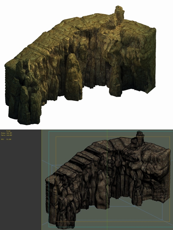 Game Model - Buddha Cliff Cliffs - 3DOcean Item for Sale