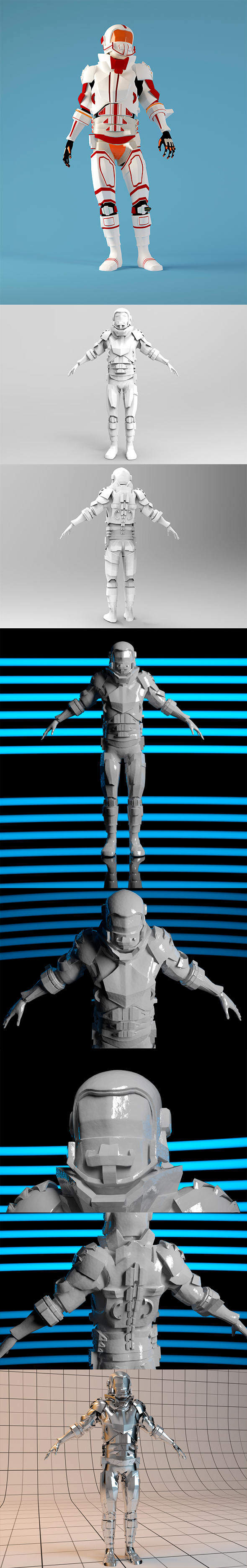 Space Soldier - Low & High Poly - 3DOcean Item for Sale