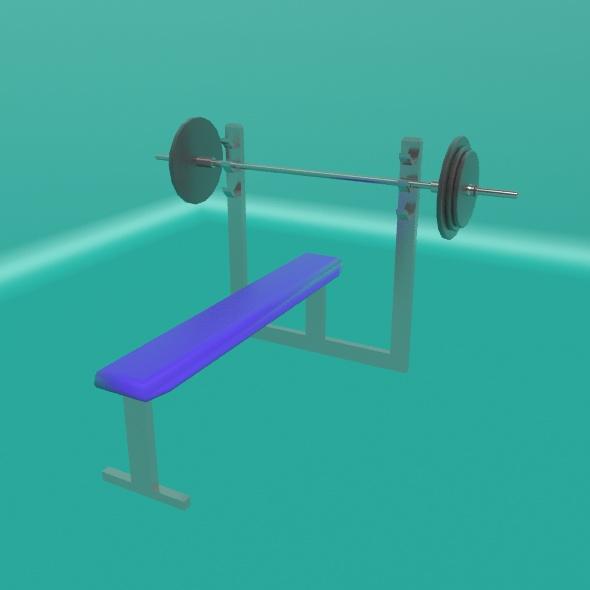 Bench Press - 3DOcean Item for Sale
