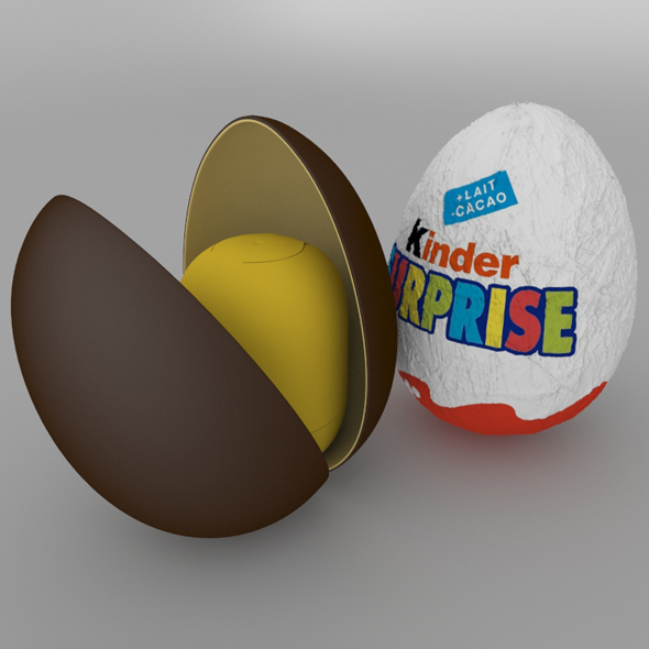 3DOcean Chocolate Egg Kinder Surprise 19747715