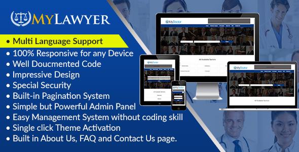 MyLawyer – Dynamic Lawyer Directory Script (PHP Scripts)