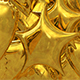 3D Gold Party Foil Balloon Transition