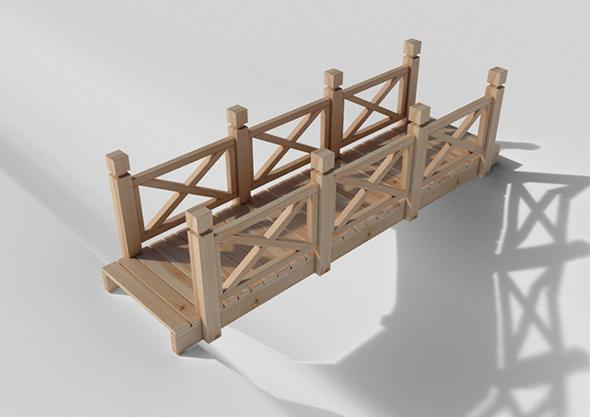 Wood Bridge - 3DOcean Item for Sale