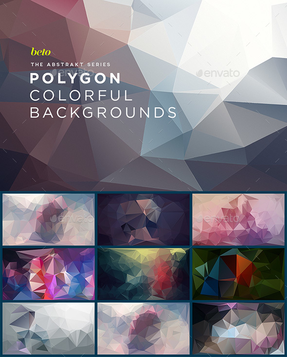 Polygon Abstract Backgrounds V5