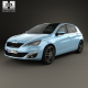 Peugeot 308 hatchback with HQ interior 2014