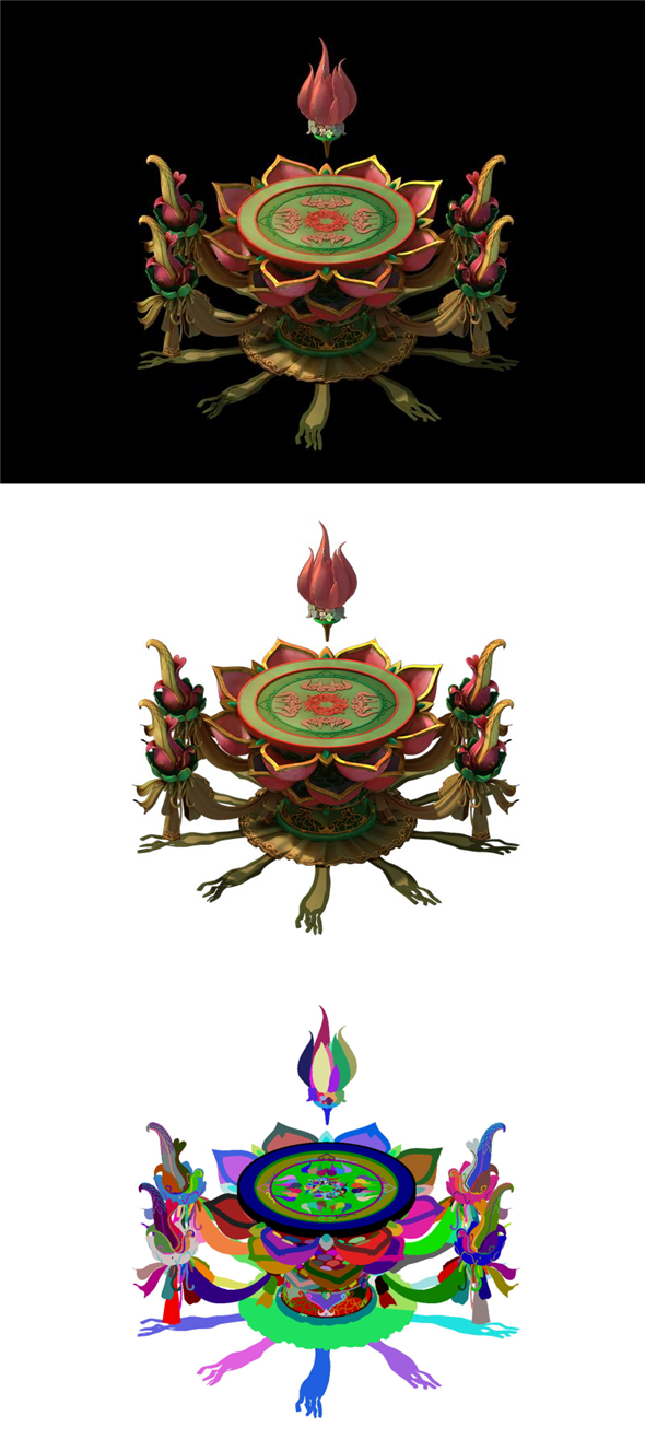 Game Models - Family Objects - Eight Immortals Table 02 - 3DOcean Item for Sale