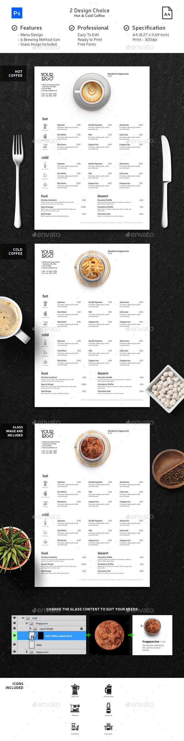 Minimalist Photography Coffee Menu 2