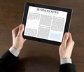 Businessman Reading Business News - PhotoDune Item for Sale