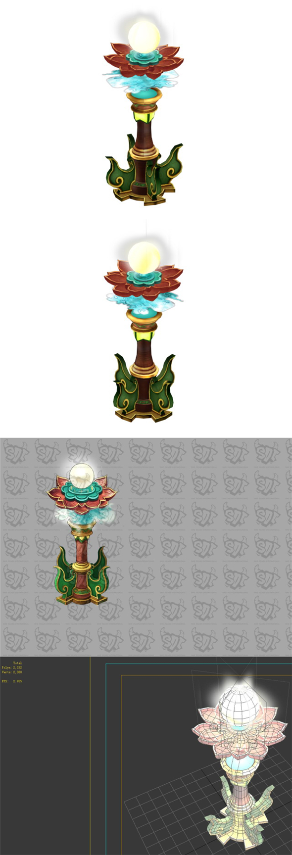 Game Model - Family Objects - Cailian with Beads 04 - 3DOcean Item for Sale