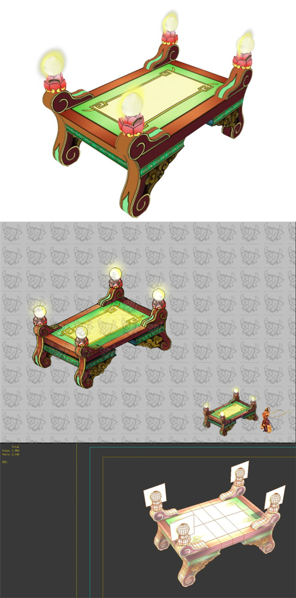 Game Model - Intra Family Objects - Coffee Table 05 - 3DOcean Item for Sale