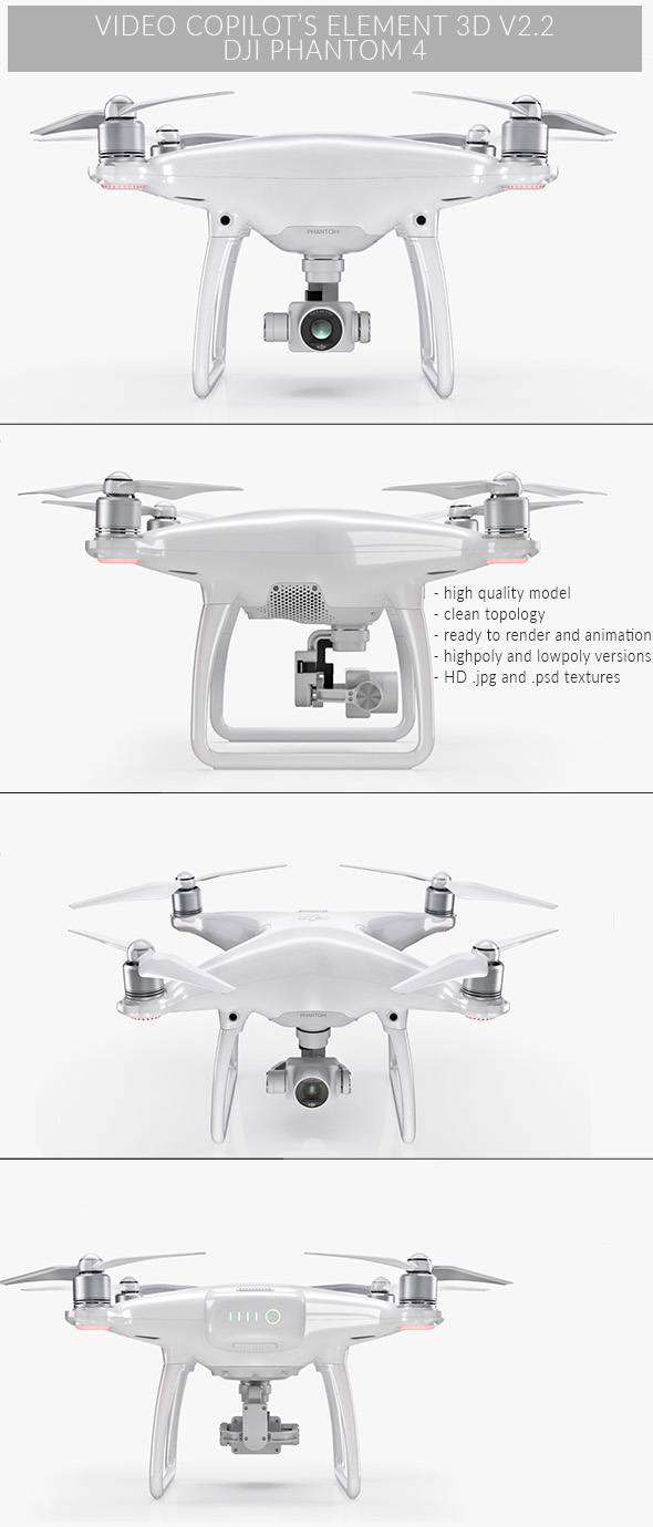 DJI Phantom 4 - Element 3D - 3DOcean Item for Sale