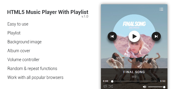 html5 music player with playlist nulled