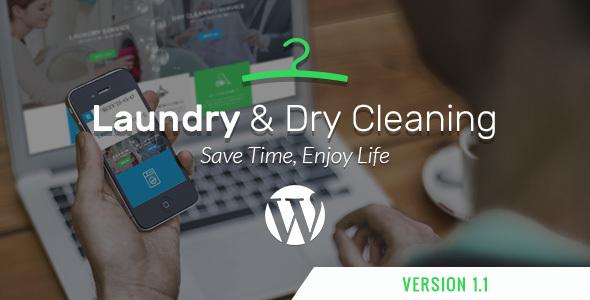 Фото Wordpress Шаблон  Laundry, Dry Cleaning Services WordPress Theme — 530 laundry.  large preview