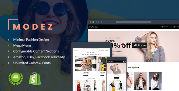 Modez - Minimal Fashion Responsive Shopify Theme - Sections Drag & Drop
