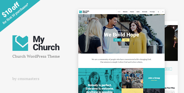 My Church – Church WordPress Theme with Events, Donations &amp Sermons (Churches)