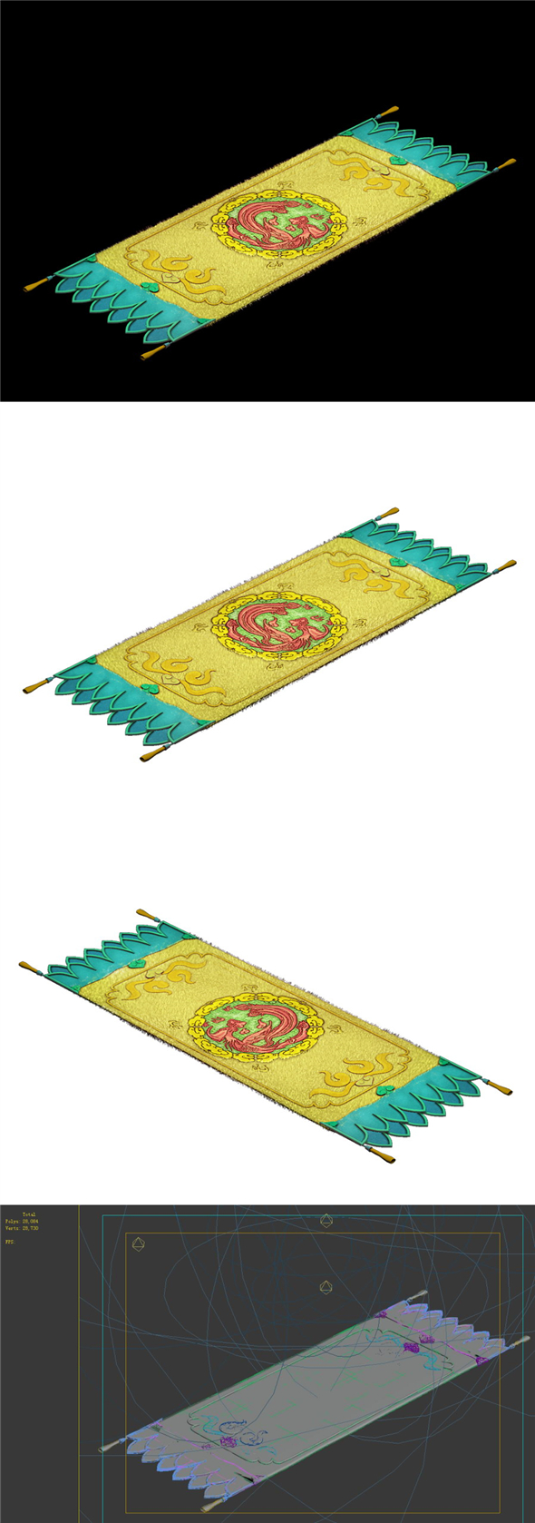 Game Model - Family Intrinsic - Carpet - 3DOcean Item for Sale