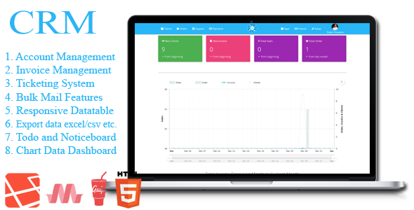 All in One Business/Invoice Management System Software (CRM With Material Design)