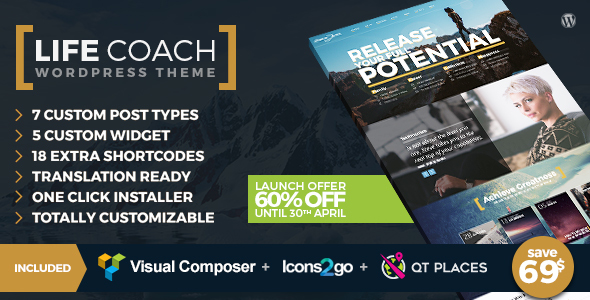 Download Life Coach WordPress Theme