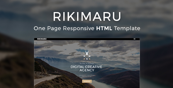 Rikimaru - Multipurpose Modern Website HTML5 & CSS3 Template