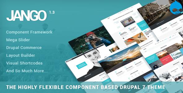 Jango | Highly Flexible Component Based Drupal Theme