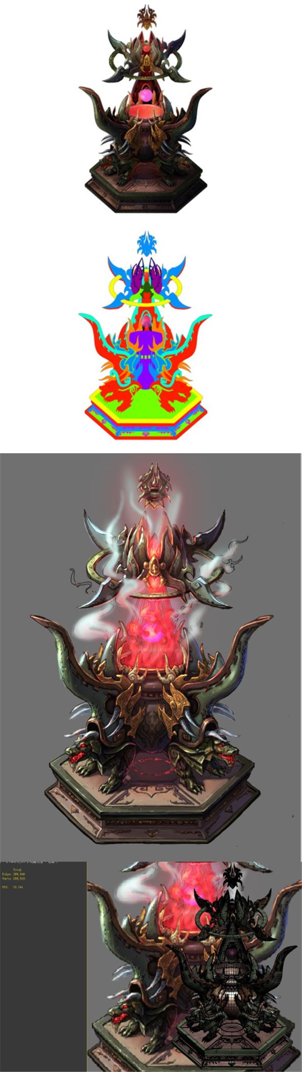 Game Model - Family Objects - Devil Soul Eater Dan furnace 02 - 3DOcean Item for Sale