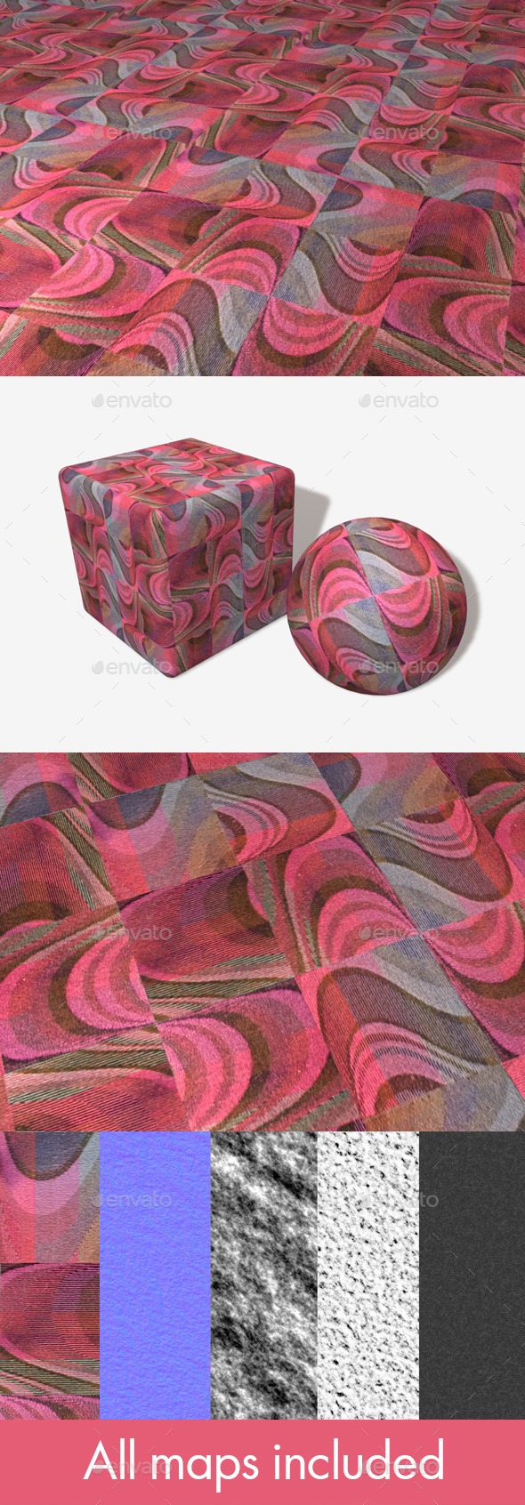 Psychedelic Pink Carpet Seamless Texture - 3DOcean Item for Sale