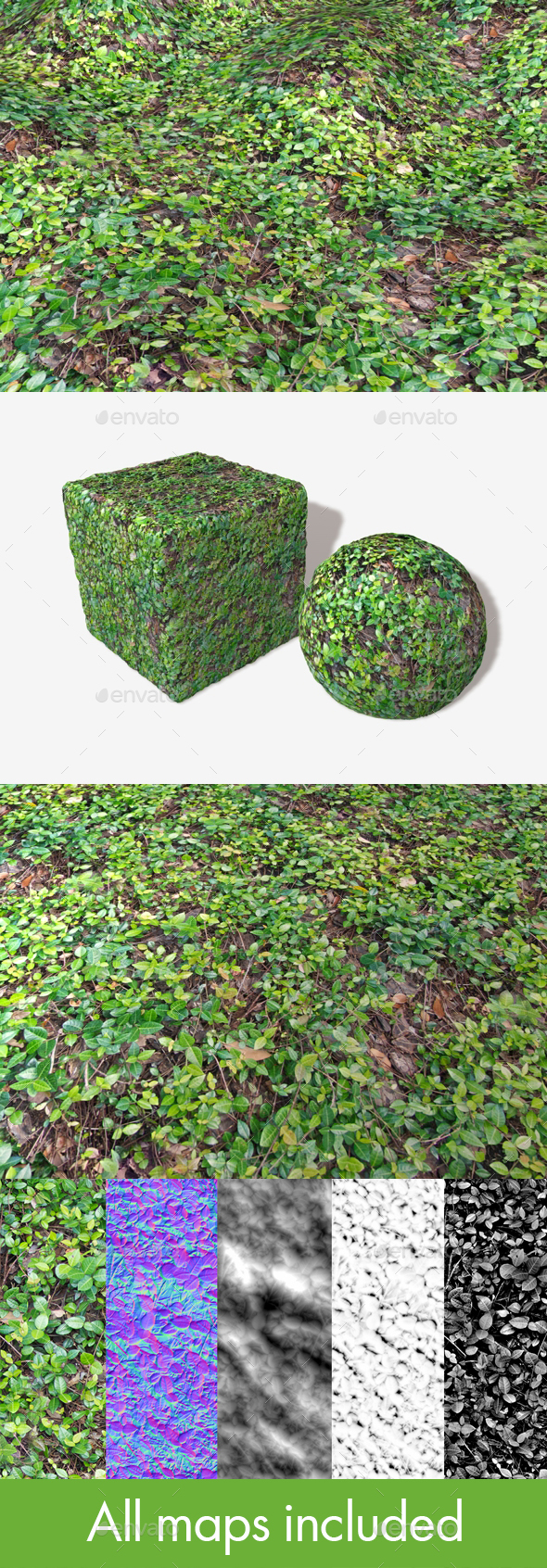 Vine Covered Ground Seamless Texture - 3DOcean Item for Sale