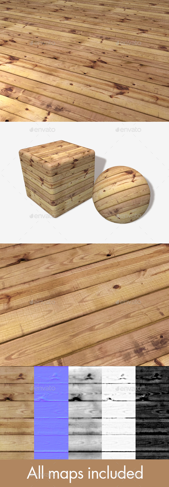 Wooden Planks Seamless Texture - 3DOcean Item for Sale