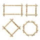 Set of Vector Bamboo Frames