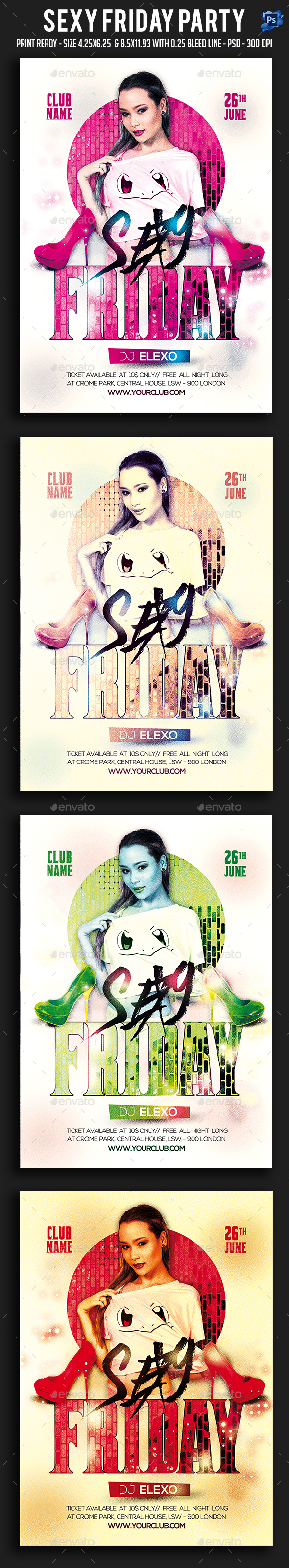Sexy Friday Party Flyer