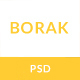 BORAK Material Design Business PSD Template