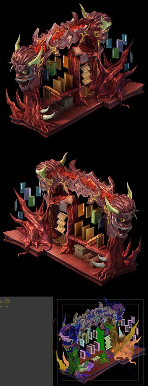 Game Model - Family Objects - Zijin Lighthouse Bookshelf 03 - 3DOcean Item for Sale
