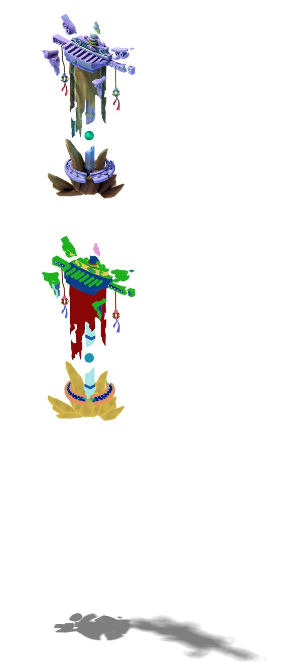 Game model - mirror demon broken flag flags - 3DOcean Item for Sale