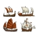 Set of Sailing Ships